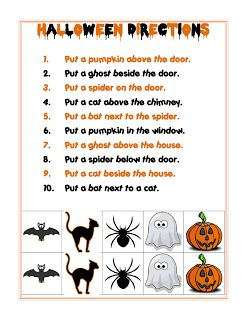 Ms. Lane's SLP Materials: Spatial Directions: Halloween