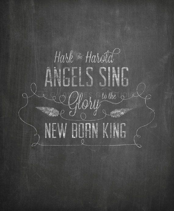 Religious Christmas Chalkboard Printable