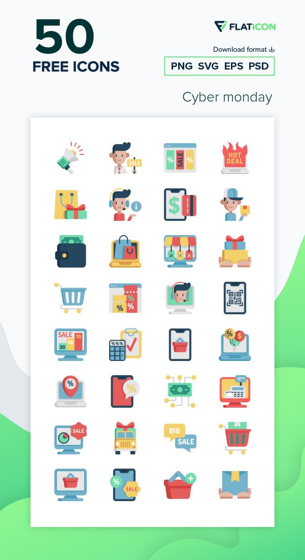 50 Free Vector Icons Of Cyber Monday Designed By Freepik In 2020 Cyber Monday Design Vector Free Free Icon Packs