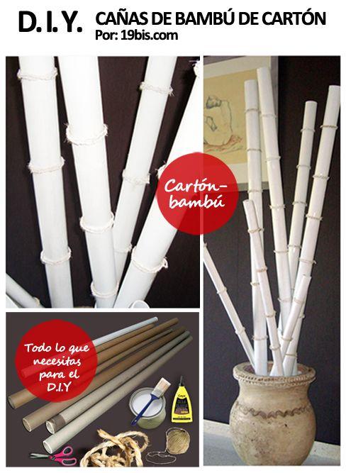 Cañas de bambú de cartón reciclado