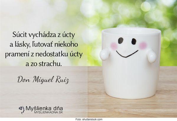 Súcit vychádza z úcty a lásky, ľutovať niekoho pramení z nedostatku úcty a zo strachu.Don Miguel Ruiz
