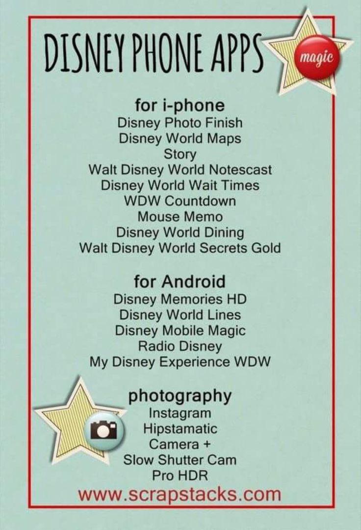 Disney phone apps