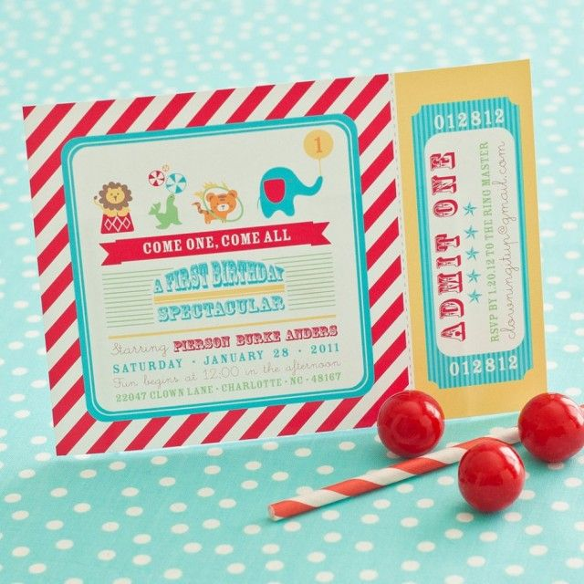 66 best Circus party images on Pinterest Circus party, Carnival - circus party invitation
