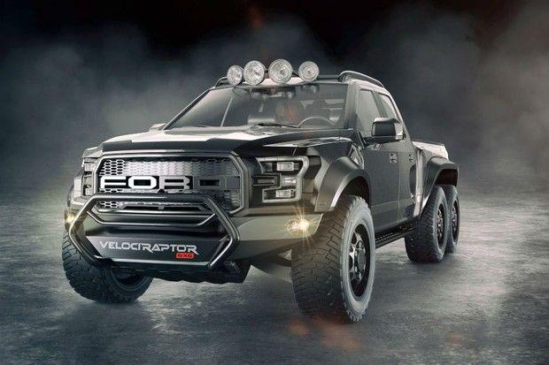 Picape Ford F-150 Raptor customizada tem seis rodas e mais de 600 cv