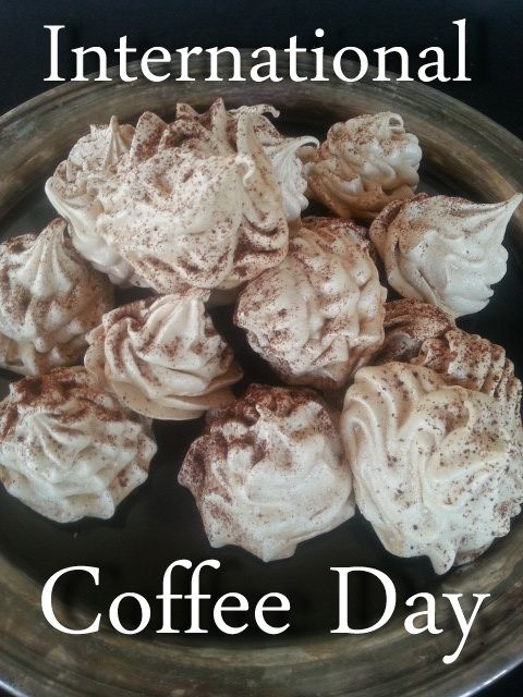 These Coffee Meringues are Elegant, delicious, and very simple: http://www.blog.provocolate.com/2015/10/double-greek-coffee-meringues-for.html