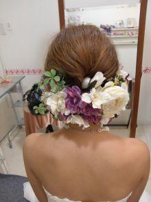 2011年 お花いっぱいヘアー  City Wedding 大阪 梅田、京都、神戸 ブライダルヘアメイク出張 ☆ヘアメイクアーティストモリの美女採集 Ameba (アメーバ)