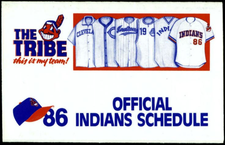 1986 CLEVELAND INDIANS HUNTINGTON BANKS BASEBALL POCKET SCHEDULE FREE SHIPPING #Schedule