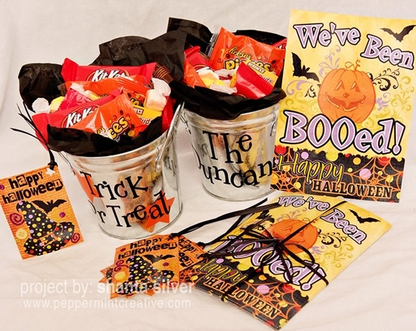 Halloween: Halloween Boo, Boo D Poems, Costumes Halloween, Halloween Buckets, Fun Ideas, Halloween Treats, Neighbor Gifts, Halloween Ideas, Boo Gifts