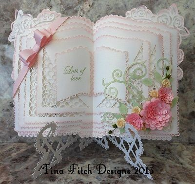 CraftROBO/Cameo Template Rose Layered book & Stand Card