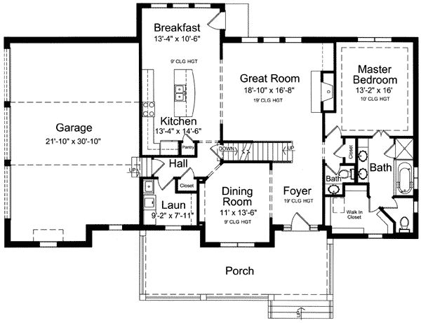 Plan 39122st lovely two story home plan bonus rooms for One story house plans with bonus room