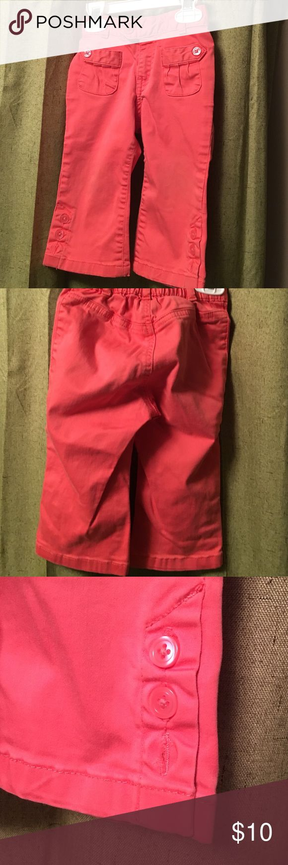 Baby Gap Girl Pants Baby Gap Girl Coral Color Pants. Size 12-18 months. Never worn. Given as gift, no tags because everything was washed before baby was born. Baby Gap Pants