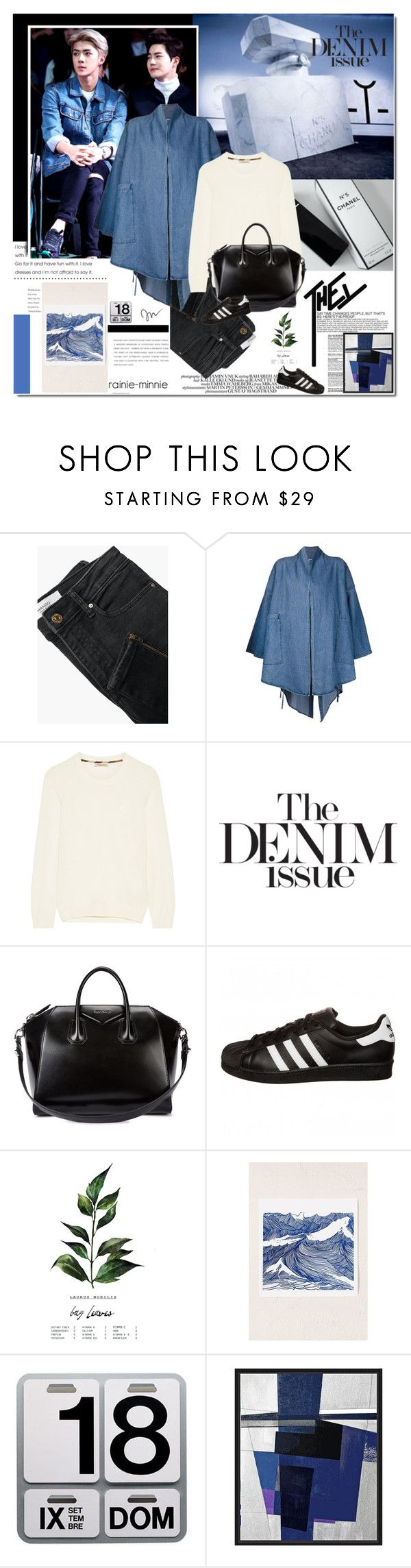 """The Denim Issue"" by rainie-minnie ❤ liked on Polyvore featuring MANGO, 69, Burberry, Givenchy, adidas Originals, Danese and Universal Lighting and Decor"