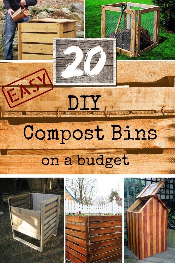 20 Easy Diy Compost Bin Ideas For Your Garden Compost Bin Diy Diy Compost Compost Bin Diy backyard compost bin