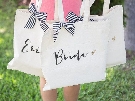 Personalized Bag Gift for Bridesmaids Wedding by ZCreateDesign