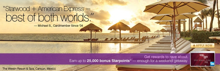 Starwood Preferred Guest Credit Card by American Express is named is named offer of the month by Business Insider! Click the image to see the article and fantastic perks you can receive by joining!