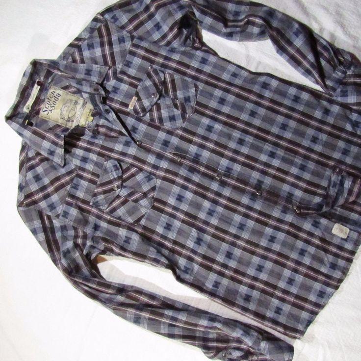 mens shirt  Scotch & Soda    super design Size L #ScotchSoda #ButtonFront