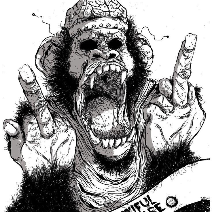 Image result for skateboard designs monkey
