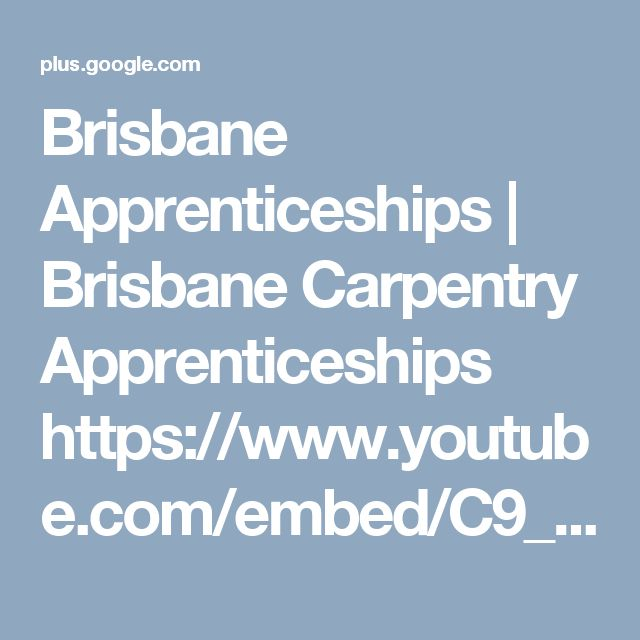 Brisbane Apprenticeships | Brisbane Carpentry Apprenticeships https://www.youtube.com/embed/C9_winVqYXI Brisbane Carpentry Apprenticeships Vacancies available in Brisbane QLD on sesat.com.au.