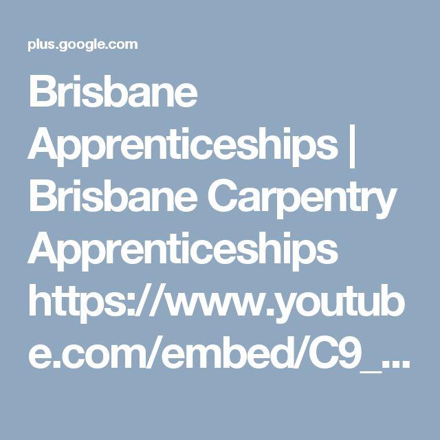 Brisbane Apprenticeships   Brisbane Carpentry Apprenticeships https://www.youtube.com/embed/C9_winVqYXI Brisbane Carpentry Apprenticeships Vacancies available in Brisbane QLD on sesat.com.au.