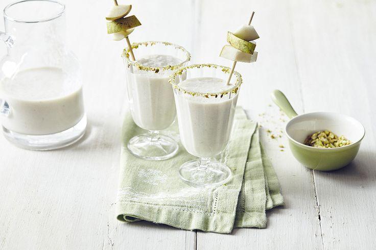 Recepten - Milkshake van peer en pistache
