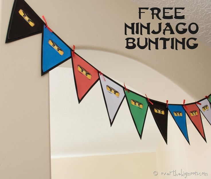 Ninjago Birthday Party with Free Printables | Over The Big Moon