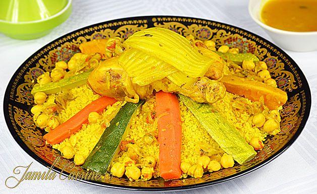 Couscous marocan cu pui - reteta video