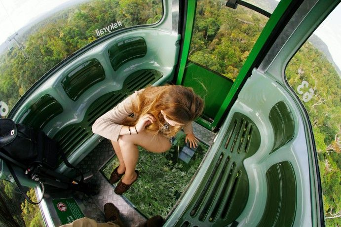 Ride the Skyrail Rainforest Cableway above Australia's World heritage listed Rainforests Image by Jarrad Seng http://blog.queensland.com/2014/11/20/100-things-to-do-cairns-great-barrier-reef/ #thisisqueensland