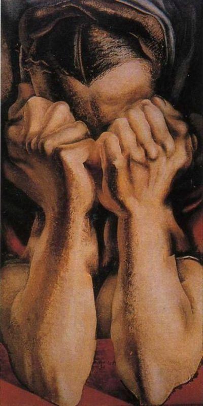 """El sollozo (""""The sob""""). David Alfaro Siqueiros. 1939. Localización: MOMA, Museo de Arte Moderno (Nueva York). https://painthealth.wordpress.com/2016/03/31/el-sollozo/"""