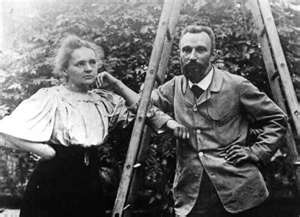 Marie and Pierre Curie married in 1895, and had two daughters.  Pierre Curie was killed in a street accident in 1906 when he was struck by a horse drawn vehicle.