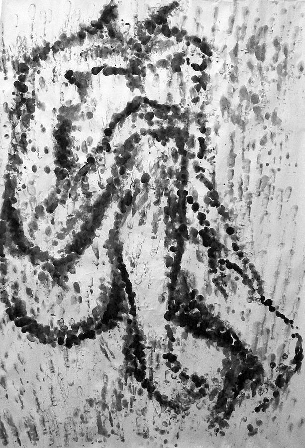 Fingerprint Nude by Alan Hogan. Original art and prints for sale. #painting #nude #woman #body #lifedrawing #lifestudy #fingerprintart