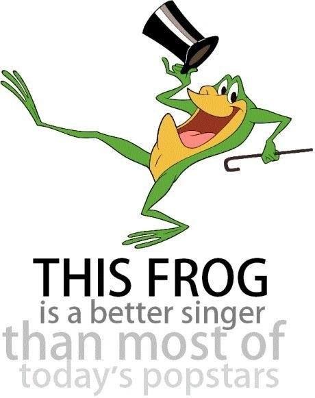 This frog's btter singer than most popstars