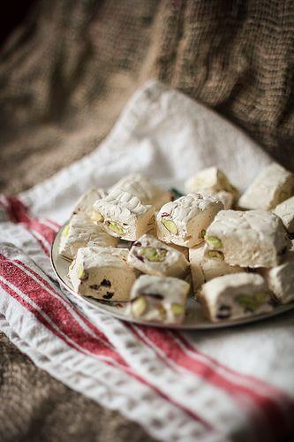 Nougat with Pistachios & Dried Cranberries