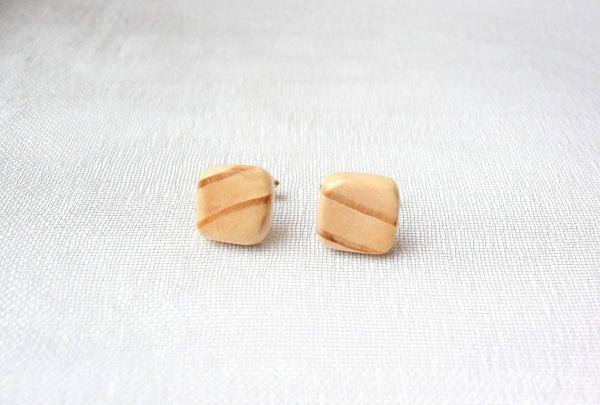 Cufflinks from larch tree, wooden cufflinks, by Mazunii on Etsy