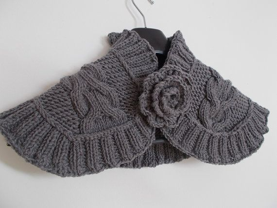 Knit neck warmer merino wool
