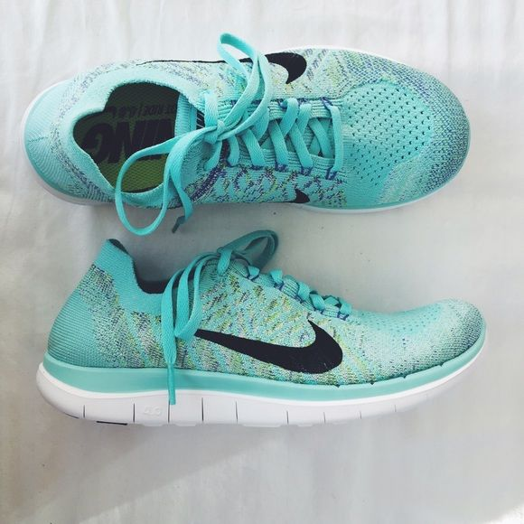 Nike Turquoise Free 4.0 Flyknit Sneakers NWT