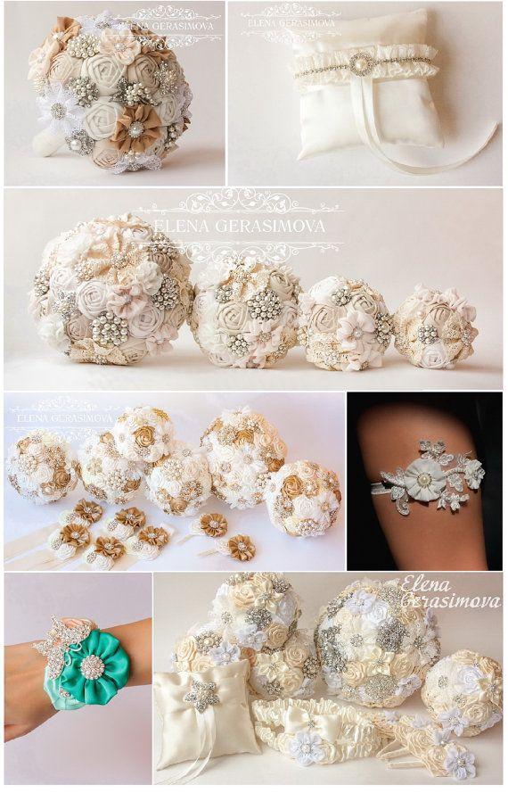 Diamante Spilla Bouquet Bouquet da Sposa Bouquet da di feltdaisy