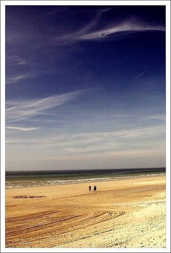 On Sainte Cecile Beach ~ Pas-de-Calais, France, enjoy a nice walk along the beach..