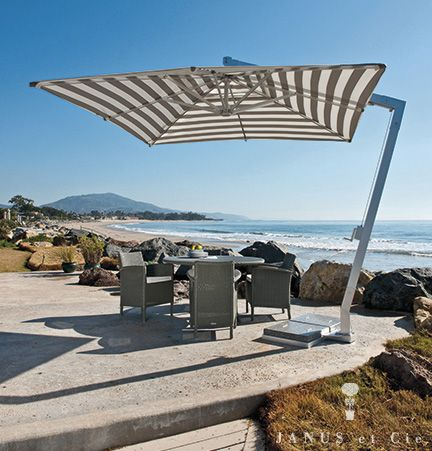 20 best images about patio shade on pinterest for Restoration hardware outdoor umbrellas
