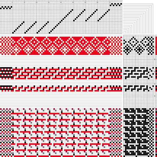 Handweaving with conductive thread for eTextiles.  Computerized weaving machine bindings by Plusea, via Flickr