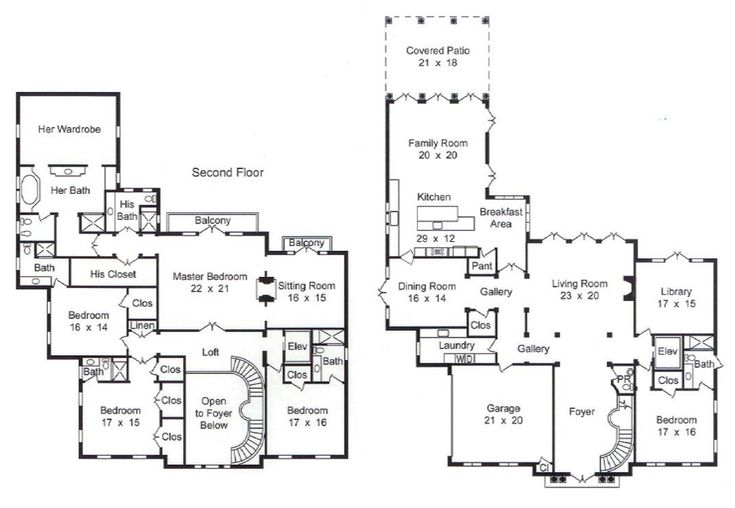 59 best floorplans images on pinterest home plans house for 7000 sq ft house plans