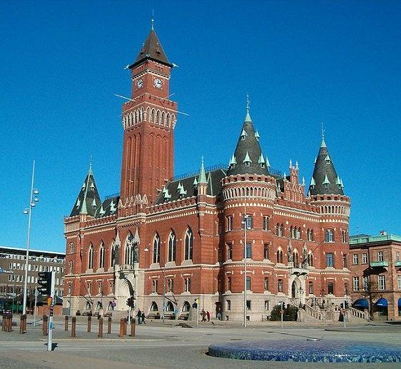 Helsingborg, Sweden - very closed to Hamlet's Castle (Kronborg) in Denmark.