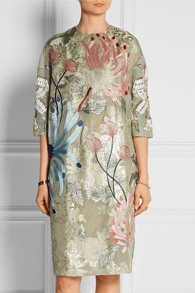 BIYAN Aleia embellished organza dress