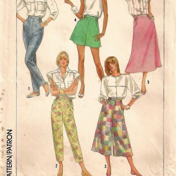 Simplicity 8027, An Easy-To-Sew Pants, Capris, Culottes, Shorts and Skirt Pattern by So Sew Some!