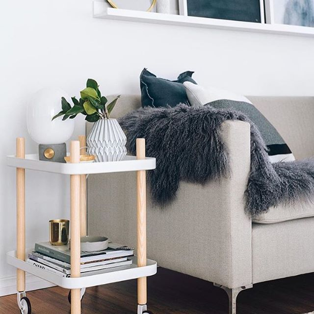 Love the beautiful living room of @oh.eight.oh.nine Normann Copenhagen Block side table is now available in our sale ✨ . #livingroom #livingroomdecor #nordichome #nordicinspiration