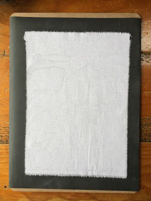 A tutorial on how to make a non-slip fabric board.