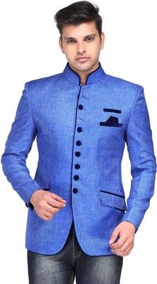 Buy Platinum Studio Solid Mandarin Casual Men's Blazer Online at Best Offer Prices @ Rs. 4,599/- In India.