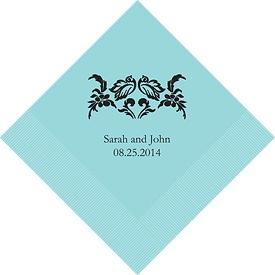 Tiffany blue wedding napkins $9.58