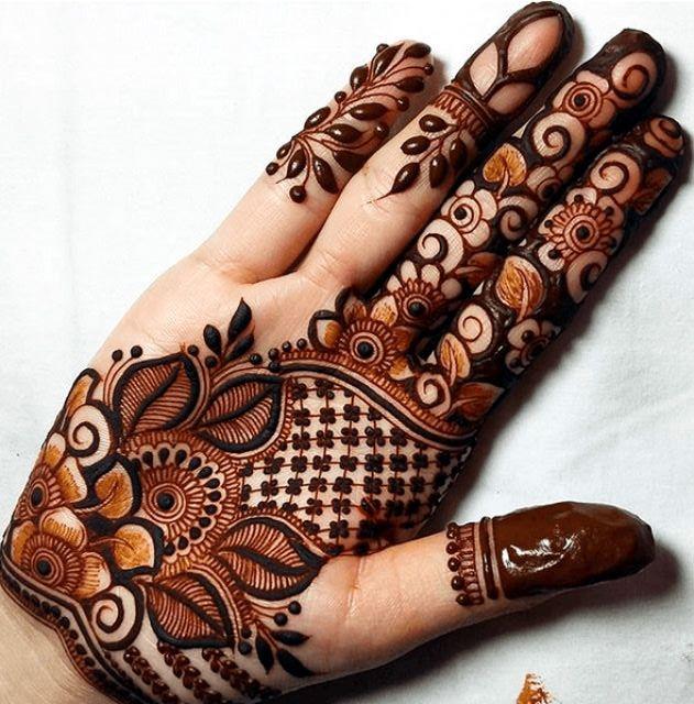 mehandi design for girls front hand
