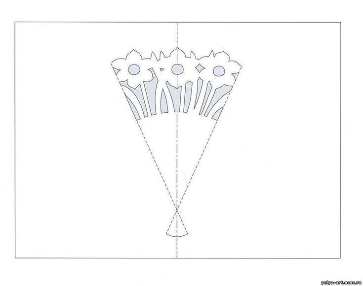Схемы киригами открытки, марта своими