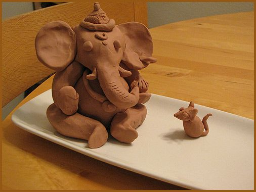 making ganesha from clay - Google Search